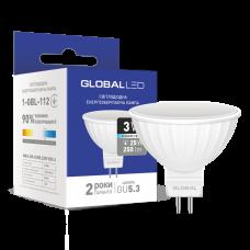 LED лампа GLOBAL MR16 3W яркий свет 220V GU5.3 (1-GBL-112)