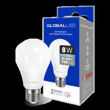 LED лампа GLOBAL A60 8W яркий свет 220V E27 AL (1-GBL-162)