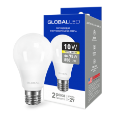 LED лампа GLOBAL A60 10W мягкий свет 220V E27 AL (1-GBL-163)