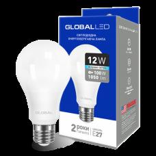 LED лампа GLOBAL A60 12W яркий свет 220V E27 AL (1-GBL-166)