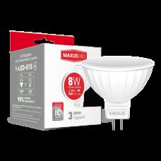 LED лампа MAXUS MR16 8W мягкий свет 220V GU5.3 (1-LED-515)