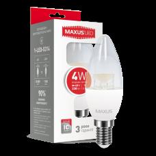 LED лампа MAXUS C37 CL-C 4W яркий свет 220V E14 (1-LED-5314)