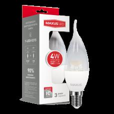 LED лампа MAXUS C37 CL-T 4W мягкий свет 220V E14 (1-LED-5315)