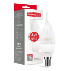 LED лампа MAXUS C37 CL-T 4W яркий свет 220V E14 (1-LED-5316)