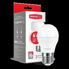 LED лампа G45 6W мягкий свет 220V E27  (1-LED-541)