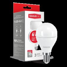 LED лампа G45 6W мягкий свет 220V E14  (1-LED-543)