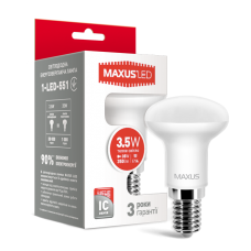 LED лампа MAXUS R39 3.5W теплый свет E14 (1-LED-551)