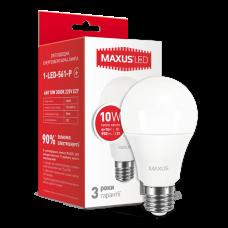 LED лампа MAXUS A60 10W мягкий свет 220V E27 (1-LED-561-P)
