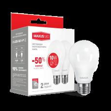 LED лампа A60 10W мягкий свет 220V E27 (по 2 шт.) (2-LED-561-P)