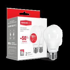 LED лампа A60 10W яркий свет 220V E27 (по 2 шт.) (2-LED-562-P)