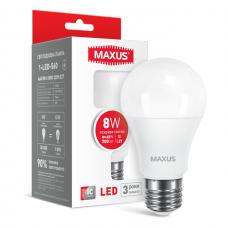 LED лампа MAXUS A60 8W яркий свет E27 (1-LED-560)